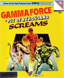 Box cover for Gamma Force in Pit of a Thousand Screams on the Commodore 64.