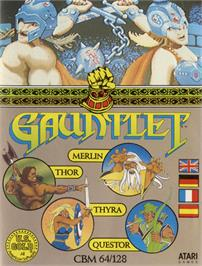 Box cover for Gauntlet on the Commodore 64.