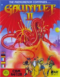Box cover for Gauntlet II on the Commodore 64.