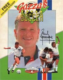 Box cover for Gazza's Super Soccer on the Commodore 64.