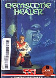Box cover for Gemstone Healer on the Commodore 64.