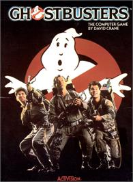 Box cover for Ghostbusters on the Commodore 64.