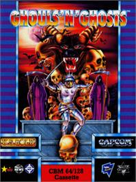 Box cover for Ghouls'n Ghosts on the Commodore 64.