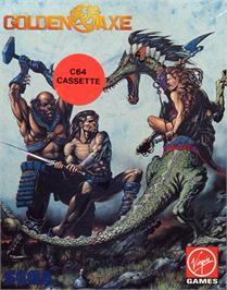 Box cover for Golden Axe on the Commodore 64.