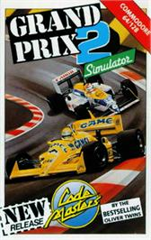 Box cover for Grand Prix Simulator 2 on the Commodore 64.