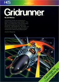 Box cover for Gridrunner on the Commodore 64.