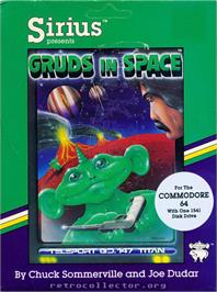 Box cover for Gruds In Space on the Commodore 64.