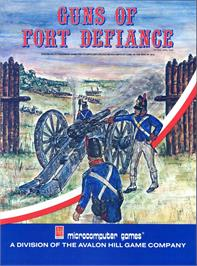 Box cover for Guns of Fort Defiance on the Commodore 64.