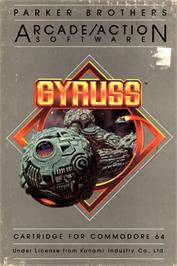 Box cover for Gyruss on the Commodore 64.