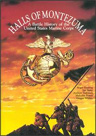 Box cover for Halls of Montezuma: A Battle History of the United States Marine Corps on the Commodore 64.