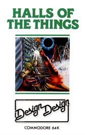 Box cover for Halls of the Things on the Commodore 64.