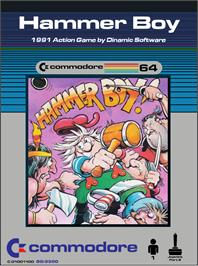 Box cover for Hammer Boy on the Commodore 64.