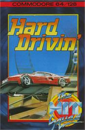 Box cover for Hard Drivin' on the Commodore 64.