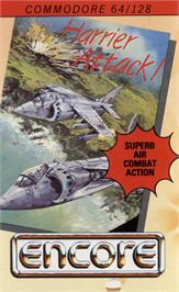 Box cover for Harrier Attack on the Commodore 64.