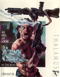 Box cover for Hawkeye on the Commodore 64.