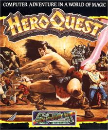 Box cover for Hero Quest on the Commodore 64.
