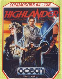 Box cover for Highlander on the Commodore 64.