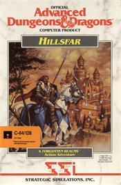 Box cover for Hillsfar on the Commodore 64.
