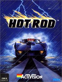 Box cover for Hot Rod on the Commodore 64.
