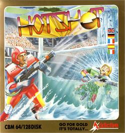 Box cover for Hotshot on the Commodore 64.