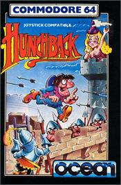 Box cover for Hunchback on the Commodore 64.