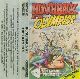Box cover for Hunchback at the Olympics on the Commodore 64.