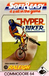 Box cover for Hyper Biker on the Commodore 64.