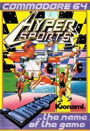 Box cover for Hyper Sports on the Commodore 64.