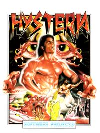 Box cover for Hysteria on the Commodore 64.
