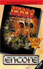 Box cover for Ikari Warriors on the Commodore 64.