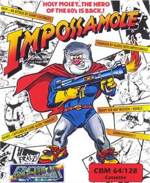 Box cover for Impossamole on the Commodore 64.