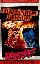 Box cover for Impossible Mission on the Commodore 64.