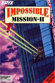 Box cover for Impossible Mission II on the Commodore 64.