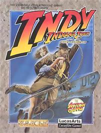 Box cover for Indiana Jones and The Fate of Atlantis: The Action Game on the Commodore 64.