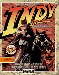 Box cover for Indiana Jones and the Last Crusade: The Action Game on the Commodore 64.