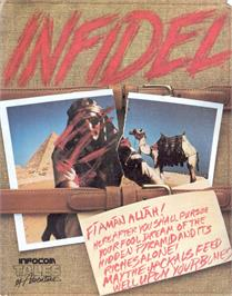 Box cover for Infidel on the Commodore 64.