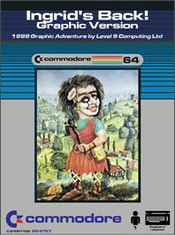 Box cover for Ingrid's Back! on the Commodore 64.