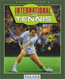Box cover for International 3D Tennis on the Commodore 64.