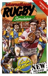 Box cover for International Rugby Simulator on the Commodore 64.