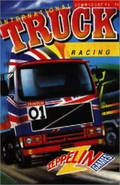 Box cover for International Truck Racing on the Commodore 64.