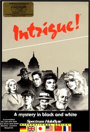 Box cover for Intrigue! on the Commodore 64.