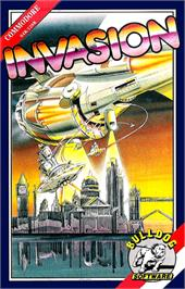 Box cover for Invasion on the Commodore 64.