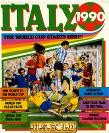 Box cover for Italy '90 Soccer on the Commodore 64.