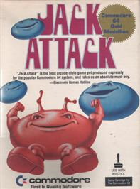 Box cover for Jack Attack on the Commodore 64.