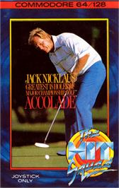 Box cover for Jack Nicklaus' Greatest 18 Holes of Major Championship Golf on the Commodore 64.