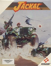 Box cover for Jackal on the Commodore 64.