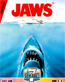 Box cover for Jaws: The Computer Game on the Commodore 64.