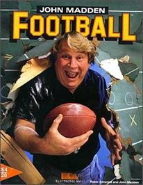 Box cover for John Madden Football on the Commodore 64.