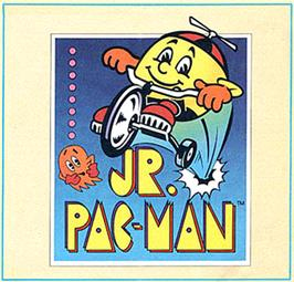 Box cover for Jr. Pac-Man on the Commodore 64.