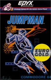 Box cover for Jumpman on the Commodore 64.